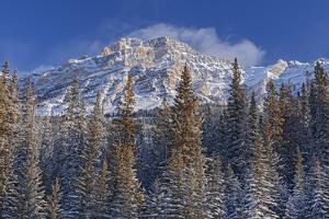 Canada, Alberta, Jasper National Park. Mount Kerkeslin in Canadian Rocky Mountains. by Jaynes Gallery