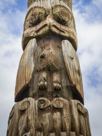 Canada, British Columbia, Hazelton. Gitxsan and Wet'suwet'en totem pole. by Jaynes Gallery