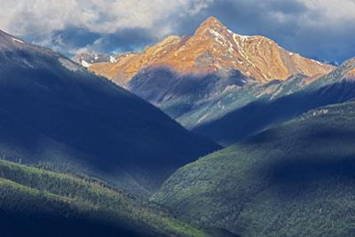 Canada, British Columbia, Radium. Purcell Mountains at sunrise. by Jaynes Gallery