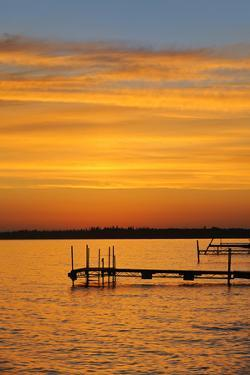 Canada, Manitoba, Docks on Clearwater Lake by Jaynes Gallery