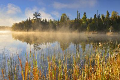 Canada, Manitoba, Whiteshell Provincial Park. Lyons Lake at sunrise. by Jaynes Gallery