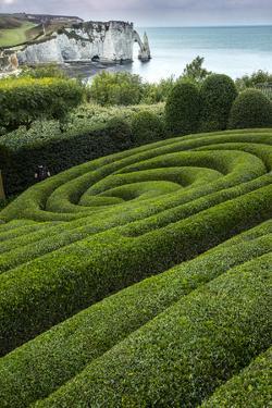 Europe, France, Etretat. Swirling design in formal garden. by Jaynes Gallery