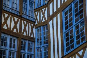 Europe, France, Rouen. Architectural building detail in the Old Town. by Jaynes Gallery