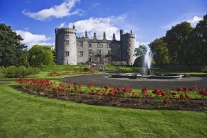 Europe, Ireland, Kilkenny. Kilkenny Castle and rose garden. by Jaynes Gallery