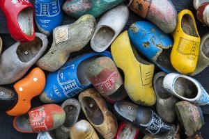 Europe, Netherlands, Zaanse Schans. Collection of colorful wooden shoes. by Jaynes Gallery