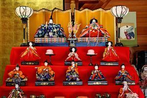 Japan, Nara Prefecture. Hina Dolls at the Takatori-Do Doll Festival by Jaynes Gallery