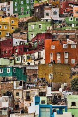 Mexico, Guanajuato. Detail of Homes on Hillside by Jaynes Gallery