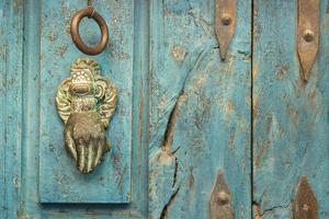 Mexico, San Miguel De Allende. Detail of Doorway by Jaynes Gallery