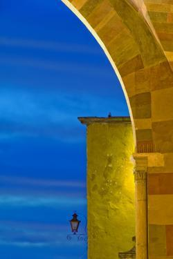 Mexico, San Miguel De Allende. Part of Parroquia Cathedral at Sunset by Jaynes Gallery