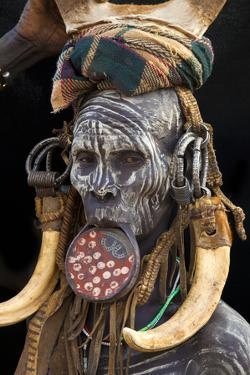 Mursi Tribe Woman, Omo River Valley, Ethiopia by Jaynes Gallery
