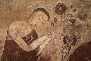 Myanmar, Bagan. Ancient Artwork in a Buddhist Temple by Jaynes Gallery