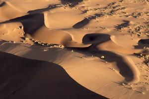 Namibia, Namib-Naukluft Park. Abstract aerial of sand dunes. by Jaynes Gallery