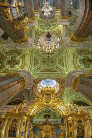 Russia, Moscow. Ceiling of Peter and Paul Cathedral, Moscow, Russia