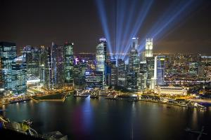 Singapore. City at night. by Jaynes Gallery