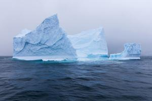 South Georgia Island. Large Iceberg on Cloudy Day by Jaynes Gallery