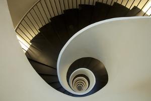 Spiral Staircase, Silken Gran Hotel Domine, Bilbao, Spain by Jaynes Gallery