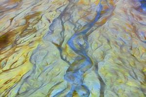 USA, Alaska, Arctic National Wildlife Refuge. Abstract of Brooks Range and Ivishak River. by Jaynes Gallery