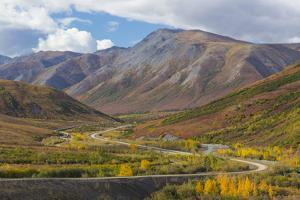 USA, Alaska, Brooks Range. Landscape with Trans-Alaska Pipeline and highway. by Jaynes Gallery