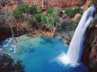 USA, Arizona, Havasupai Reservation. Havasu Falls in the Grand Canyon