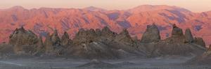 USA, California. Composite panoramic of Trona Pinnacles. by Jaynes Gallery