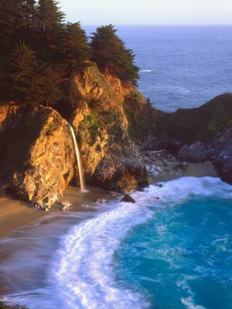 USA, California, Julia Pfeiffer Burns Sp. Waterfall Along the Coast by Jaynes Gallery