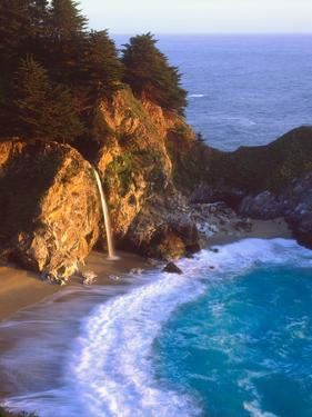 USA, California, Julia Pfeiffer Burns Sp. Waterfall Along the Coast by Jaynes Gallery