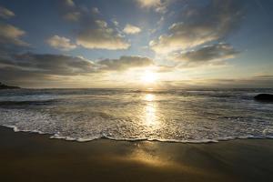 USA, California, La Jolla. Sunset over beach. by Jaynes Gallery