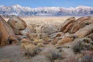 USA, California, Lone Pine. View of Lone Pine Peak and Mount Whitney by Jaynes Gallery