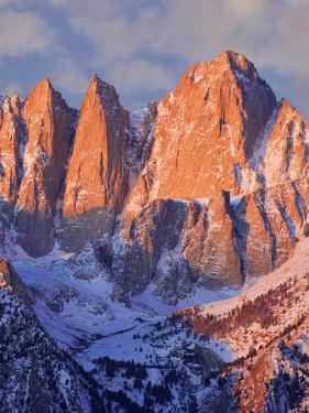 USA, California, Mt. Whitney. Mountain landscape in winter. by Jaynes Gallery