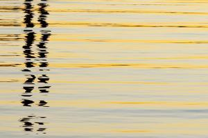 USA, California, San Diego. Abstract reflections in San Diego Harbor. by Jaynes Gallery