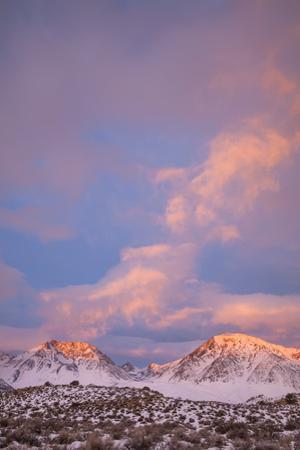 USA, California, Sierra Nevada Range. Sunrise on mountains. by Jaynes Gallery