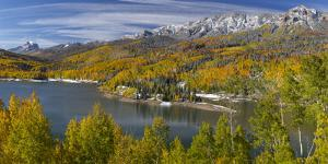 USA, Colorado. Panoramic composite of Silver Jack Reservoir. by Jaynes Gallery