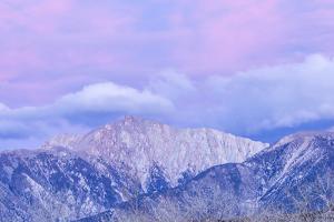 USA, Nevada, White Mountains. Sunset on Boundary Peak. by Jaynes Gallery