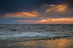USA, New Jersey, Cape May National Seashore. Overcast sunrise on shore. by Jaynes Gallery