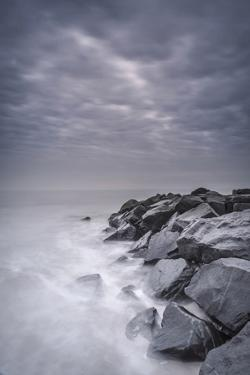 USA, New Jersey, Cape May National Seashore. Stormy shoreline landscape. by Jaynes Gallery