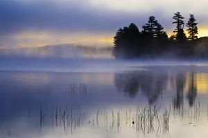 USA, New York, Adirondack Mountains. Racquette Lake at Sunrise by Jaynes Gallery