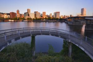USA, Oregon, Portland. Vera Katz Eastbank Esplanade along Willamette River. by Jaynes Gallery