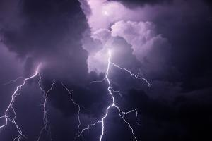USA, Tennessee. Composite of Cloud-To-Cloud Lightning Bolts by Jaynes Gallery