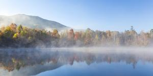 USA, Tennessee. Morning fog on Indian Boundary Lake. by Jaynes Gallery