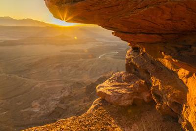 USA, Utah, Dead Horse Point State Park. Sunrise on rock formations. by Jaynes Gallery