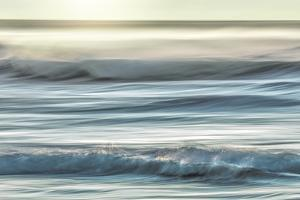 USA, Washington, Cape Disappointment State Park. Motion blur of sunset on coast. by Jaynes Gallery