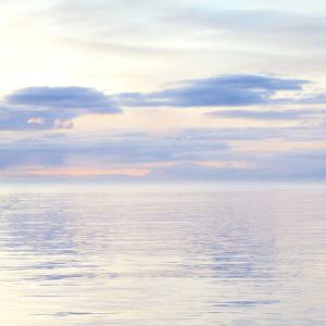 USA, Washington, San Juan Islands. Pastel seascape at sunset. by Jaynes Gallery