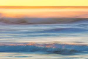 USA, Washington State, Cape Disappointment State Park. Abstract of sunset and ocean. by Jaynes Gallery