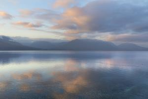 USA, Washington State, Seabeck. Winter sunset on Hood Canal. by Jaynes Gallery