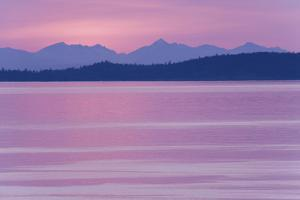 USA, Washington. View from San Juan Island looking over Haro Straight into Canada at sunset. by Jaynes Gallery
