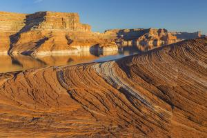 Utah. Weathering Pit Ridge at Lake Powell by Jaynes Gallery