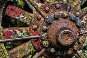 Washington State, Forks. Detail of Antique Logging Equipment by Jaynes Gallery