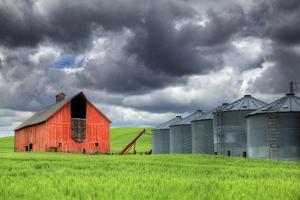 Washington State, Palouse. Barn and Silos by Jaynes Gallery