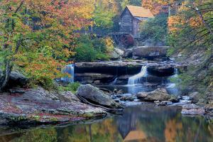 West Virginia, Babcock State Park. Glade Creek Grist Mill by Jaynes Gallery