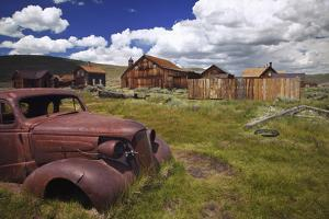 Wood Buildings and Old Car, Bodie State Historic Park, California, USA by Jaynes Gallery